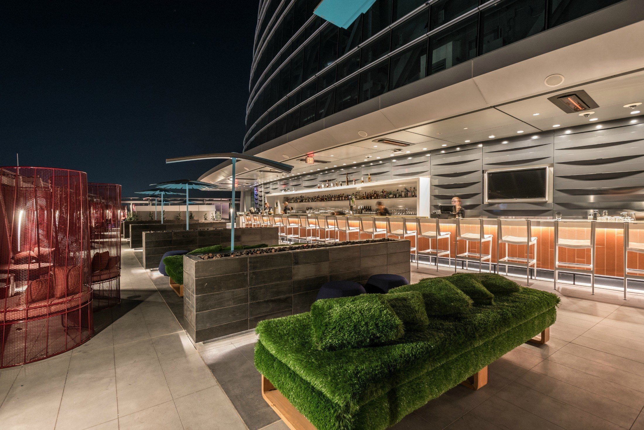Spire 73 at the InterContinental Los Angeles Downtown is the tallest open air bar in the Western Hemisphere.