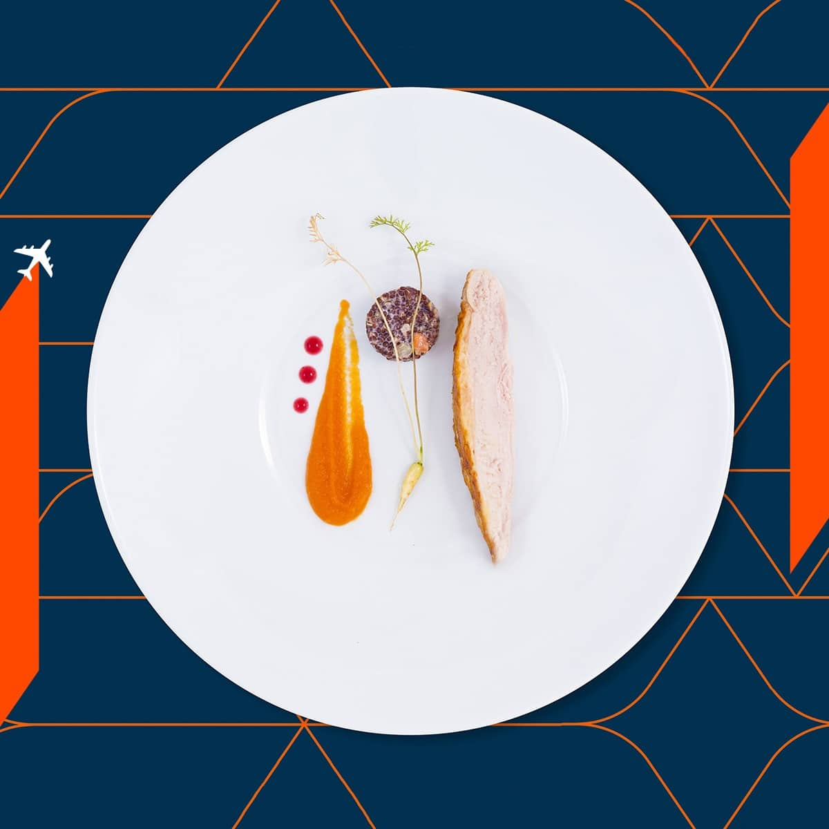 The food on Air France is designed by Michelin star chefs.