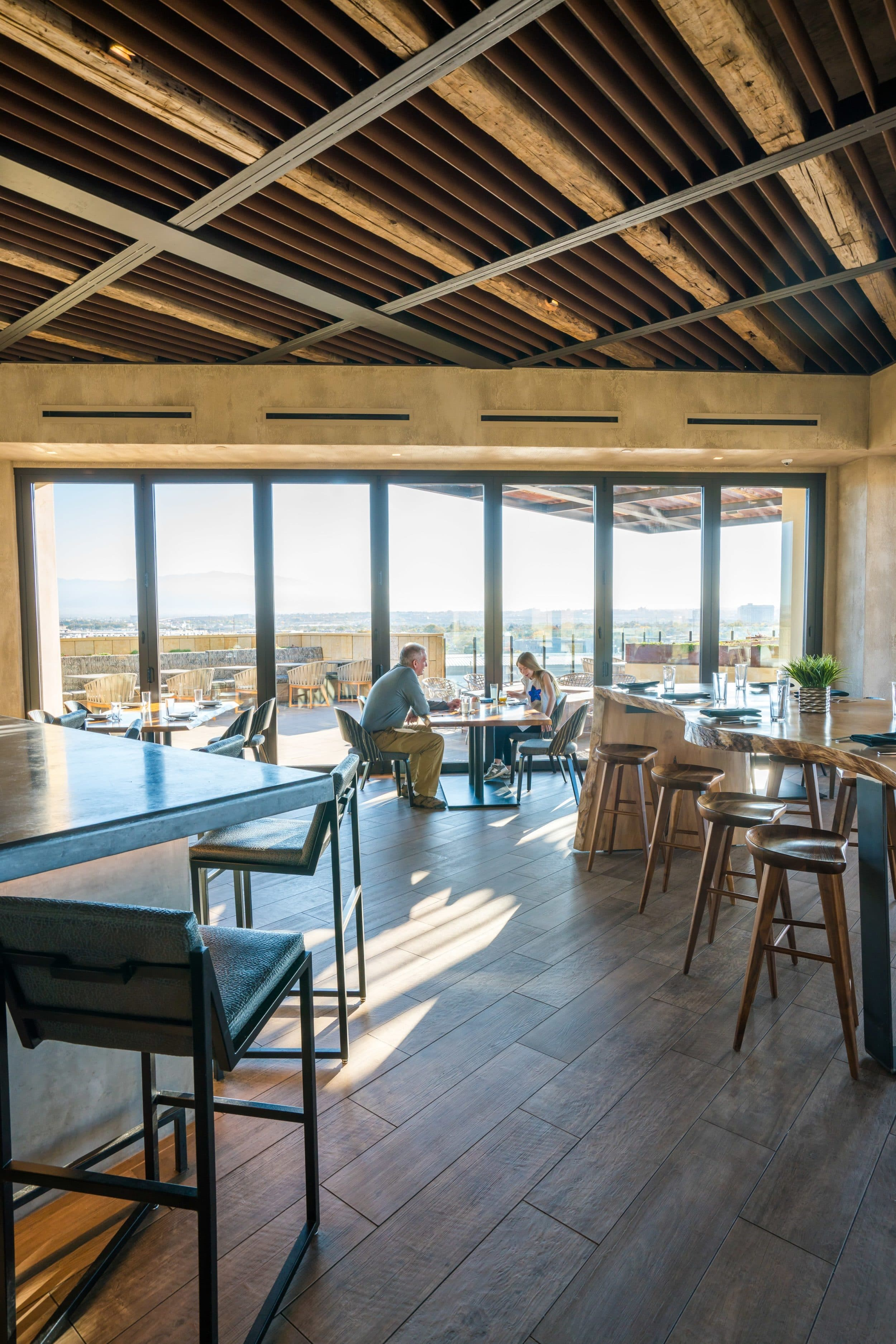 The rooftop restaurant at Hotel Chaco in Albuquerque.
