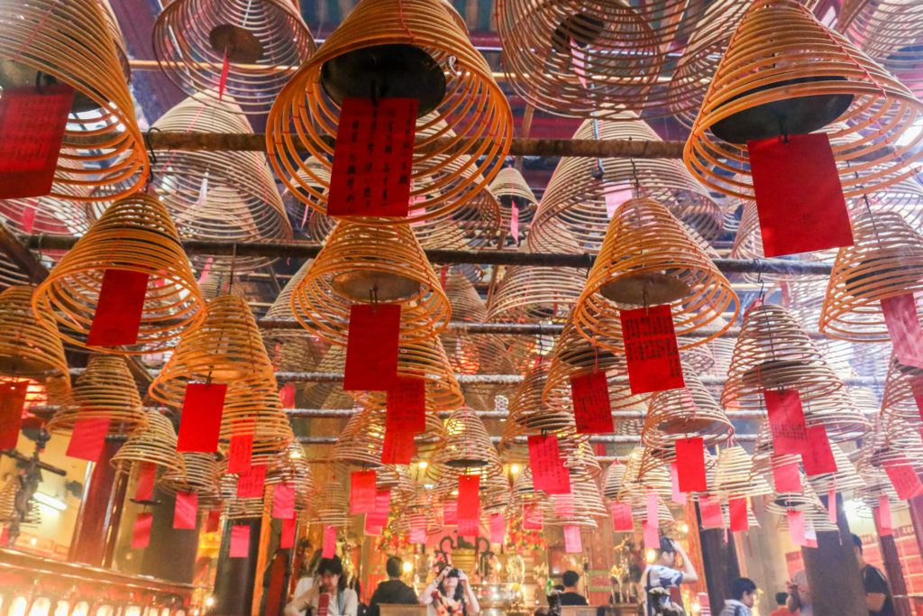 Man Mo Temple in Hong Kong is a lovely break from shopping on Hollywood Road.