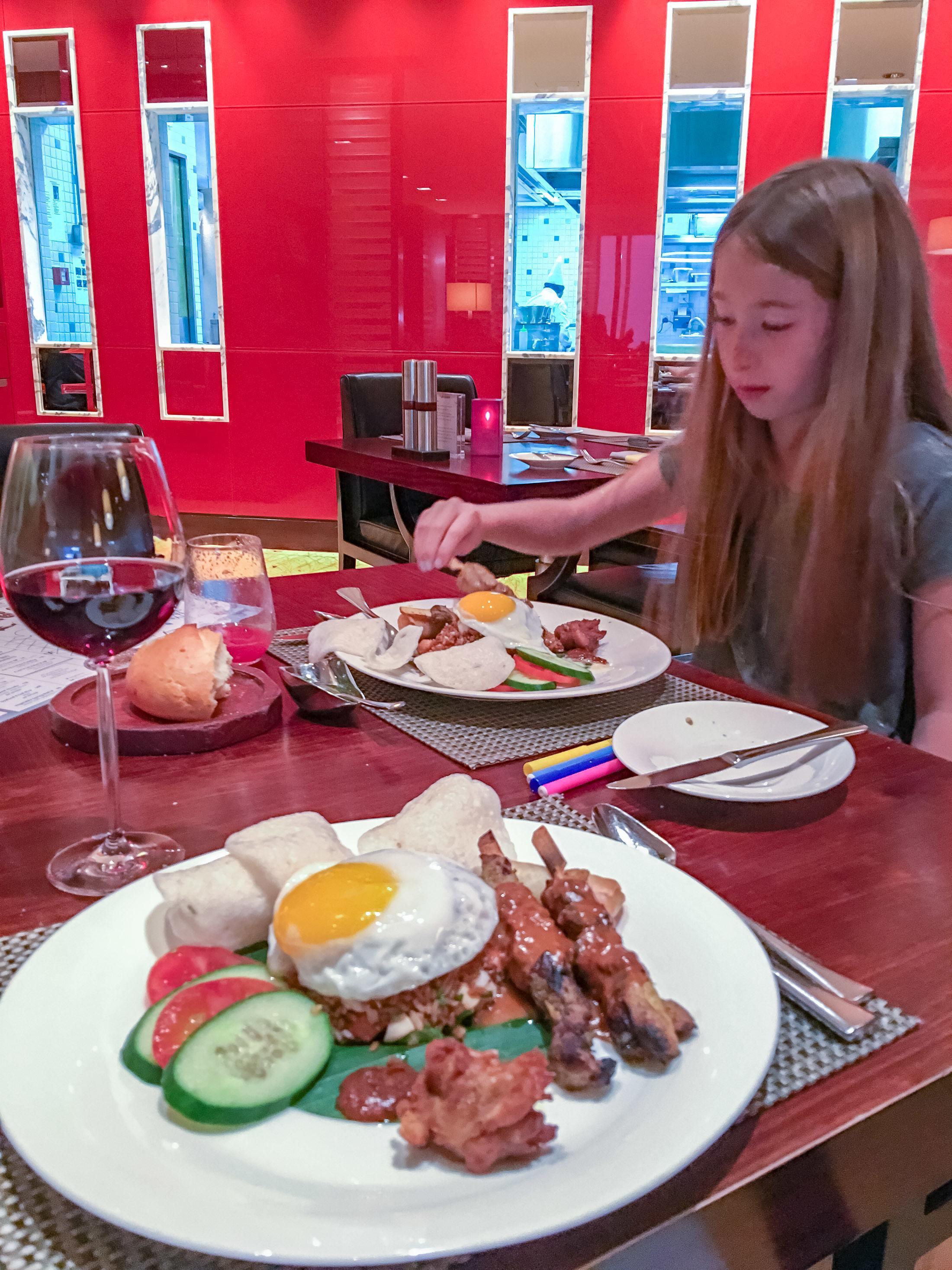Cafe Causette at Mandarin Oriental, Hong Kong has amazing nasi goreng.