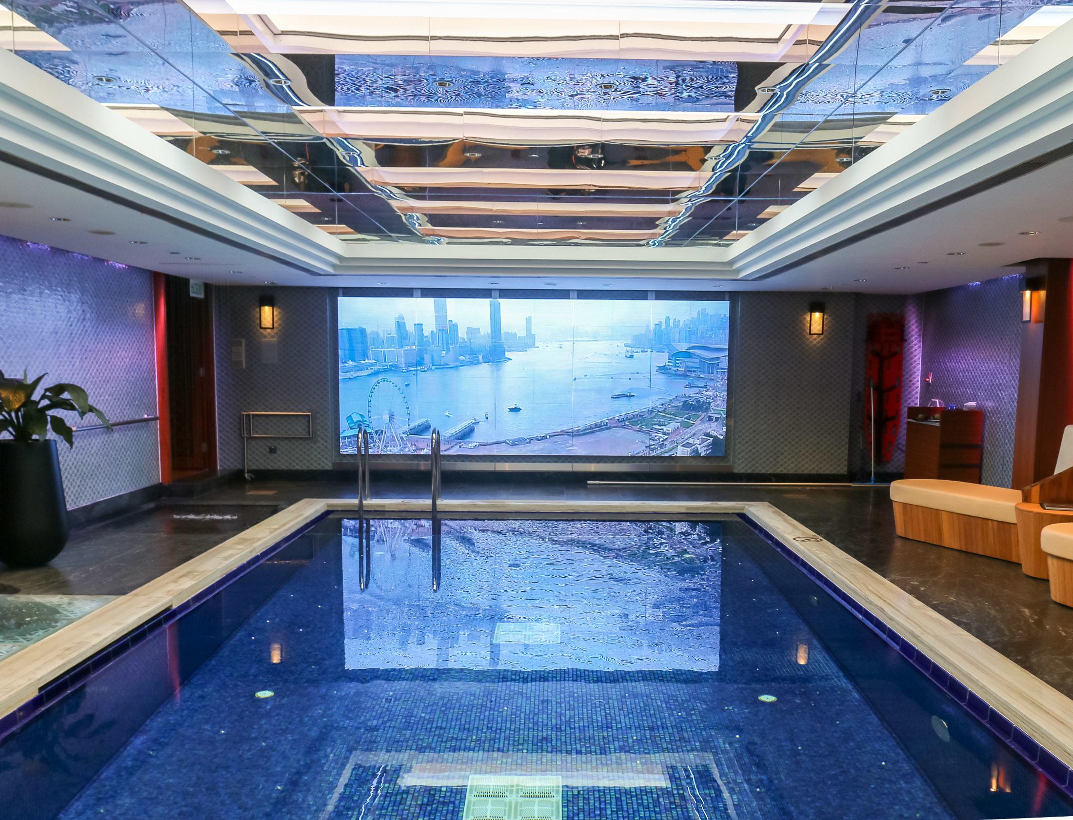 The Mandarin Oriental Hong Kong pool is indoor.