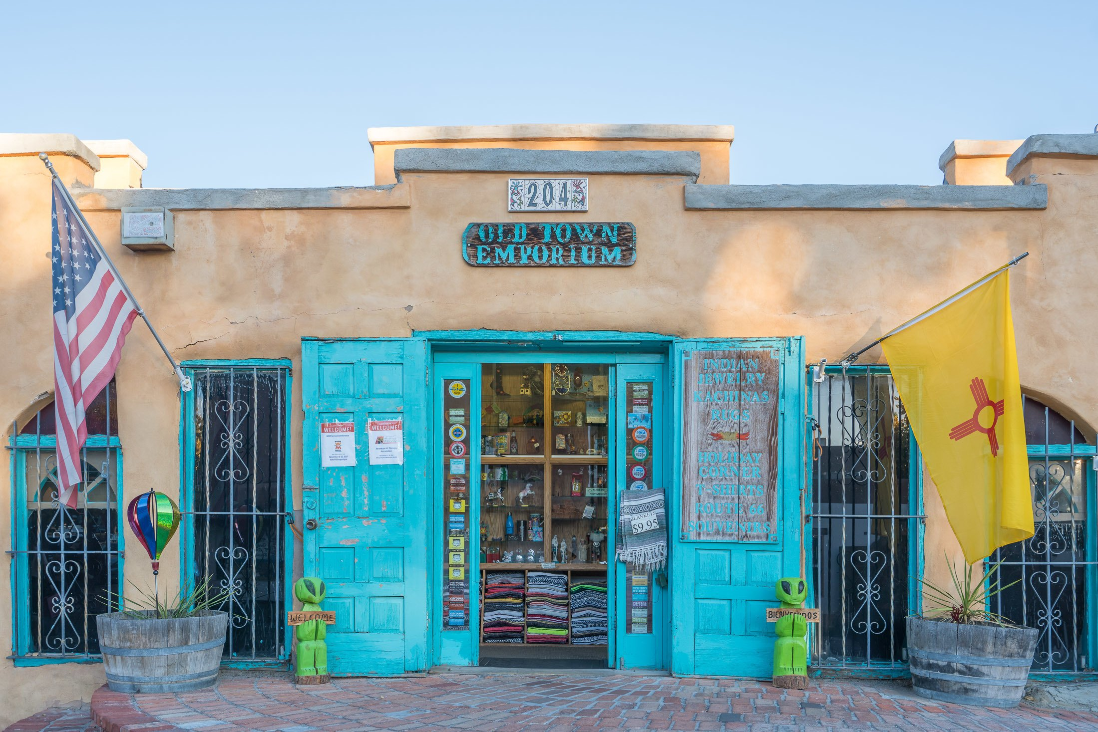 A general storefront in Old Town Albuquerque.
