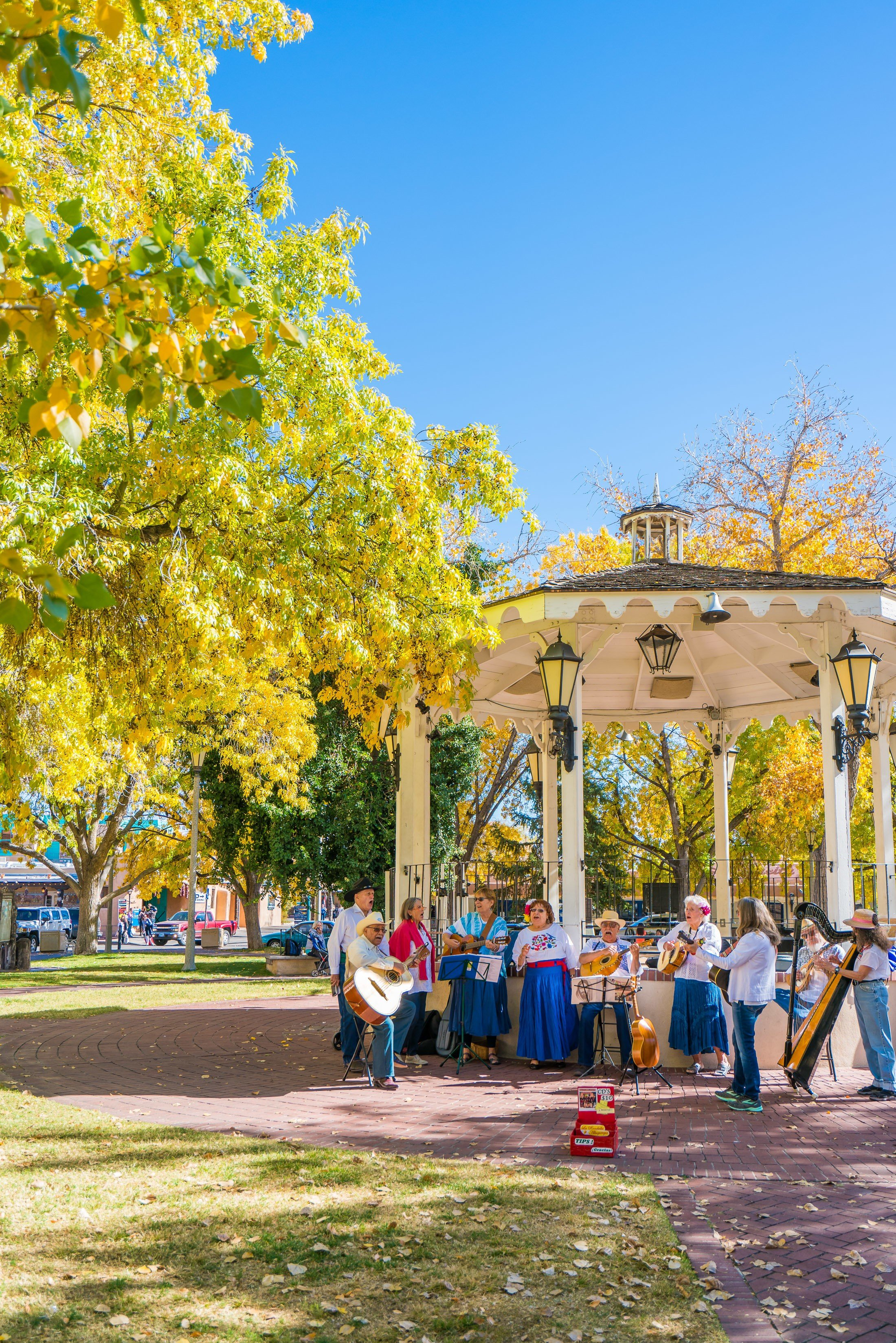 Live music in the square at Old Town Albuquerque.