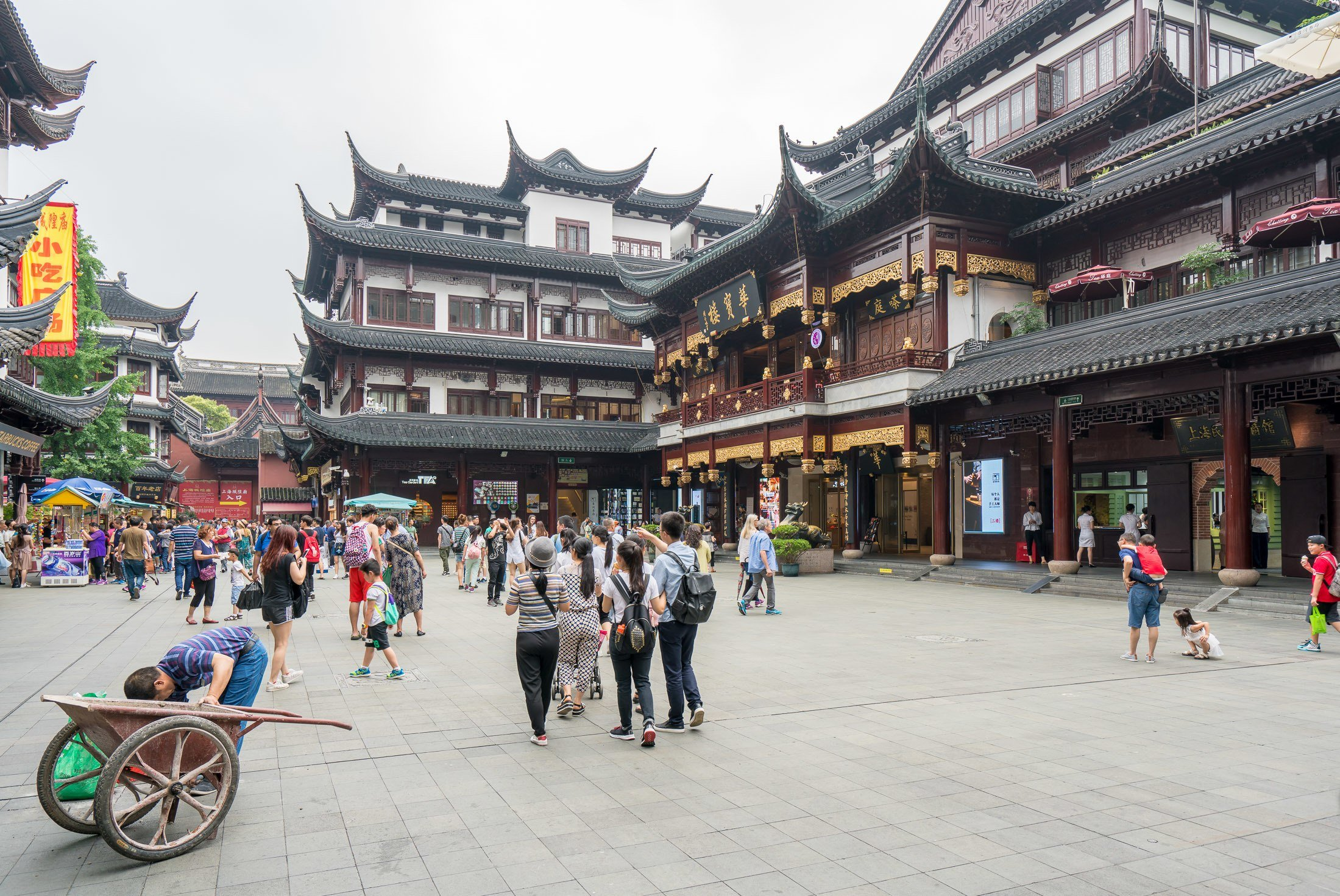 Yu Yuan Garden in Shanghai is best for older kids.
