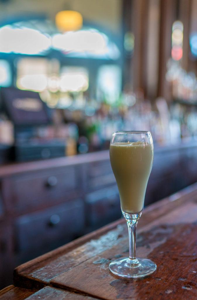 A grasshopper drink at Tujague's during my New Orleans food tour.