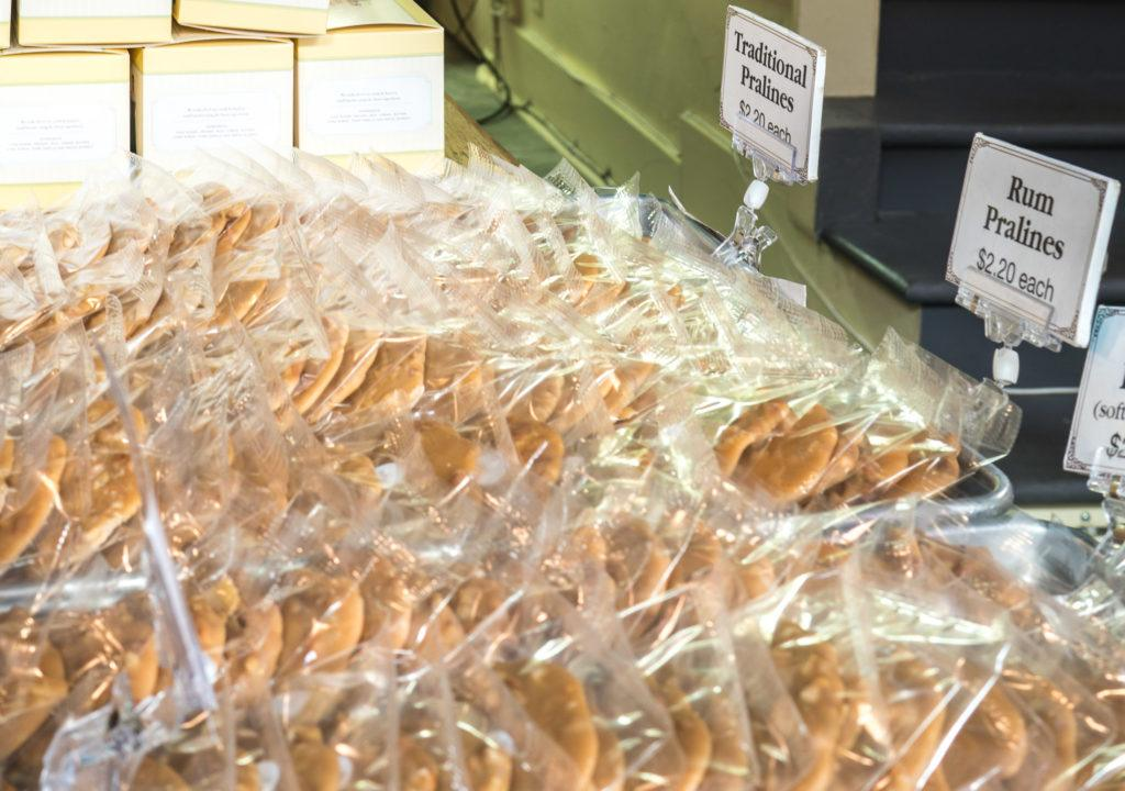 More individually wrapped pralines for people to grab and buy at Leah's Pralines.