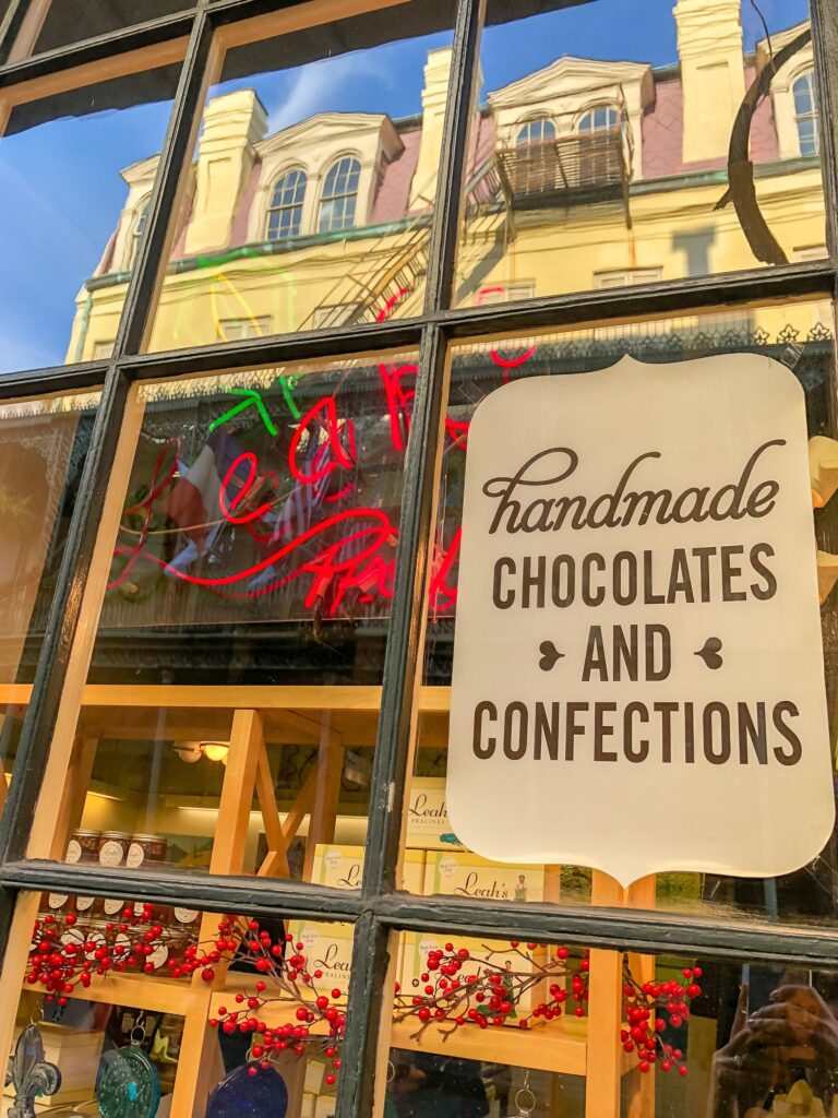 Leah's Pralines in New Orleans, a stop on our Doctor Gumbo food history tour.