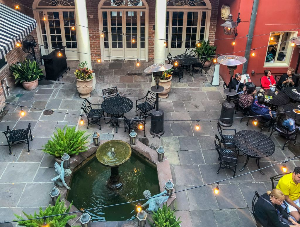 The patio at Tableau, a popular New Orleans restaurant.
