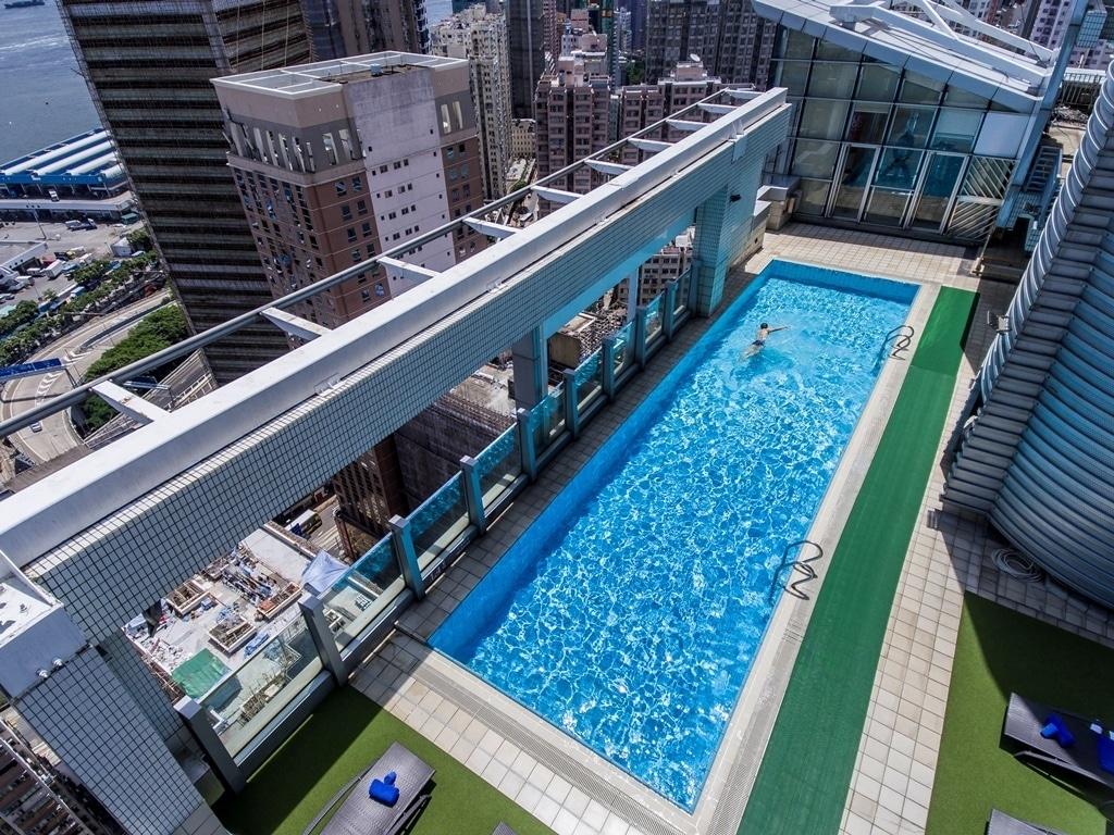 The pool at Hotel Jen Hong Kong