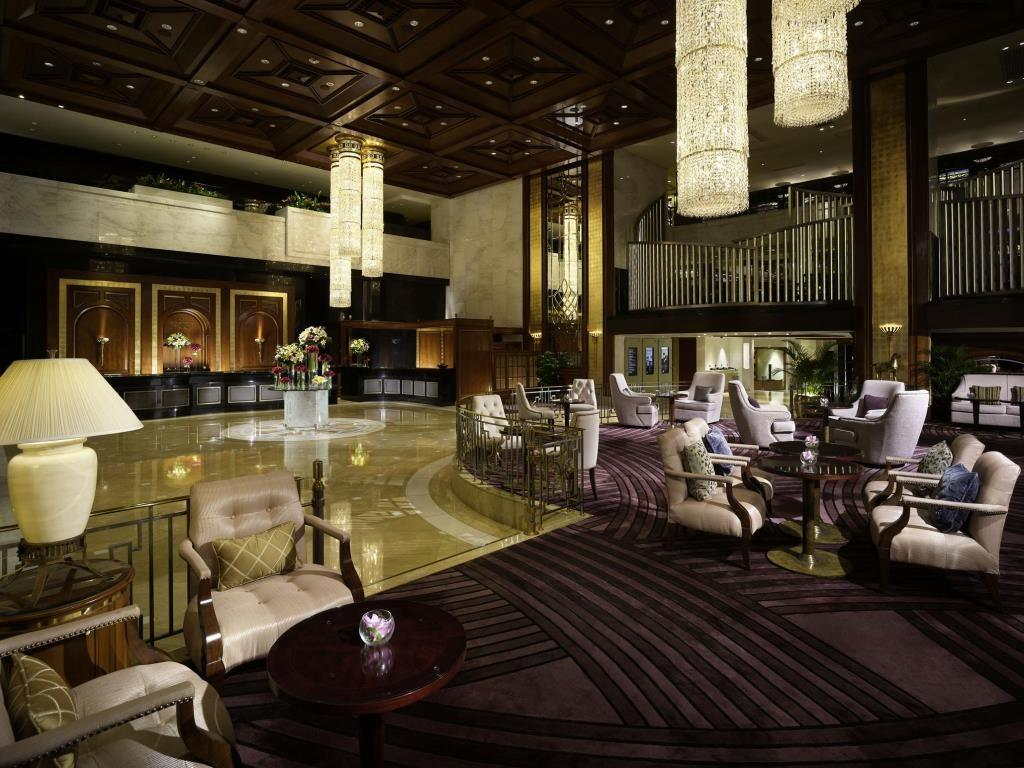 The lobby at InterContinental Grand Stanford, a Hong Kong luxury hotel.