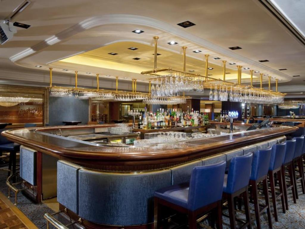 The bar at Holiday Inn Golden Mile, a four-star Hong Kong hotel.