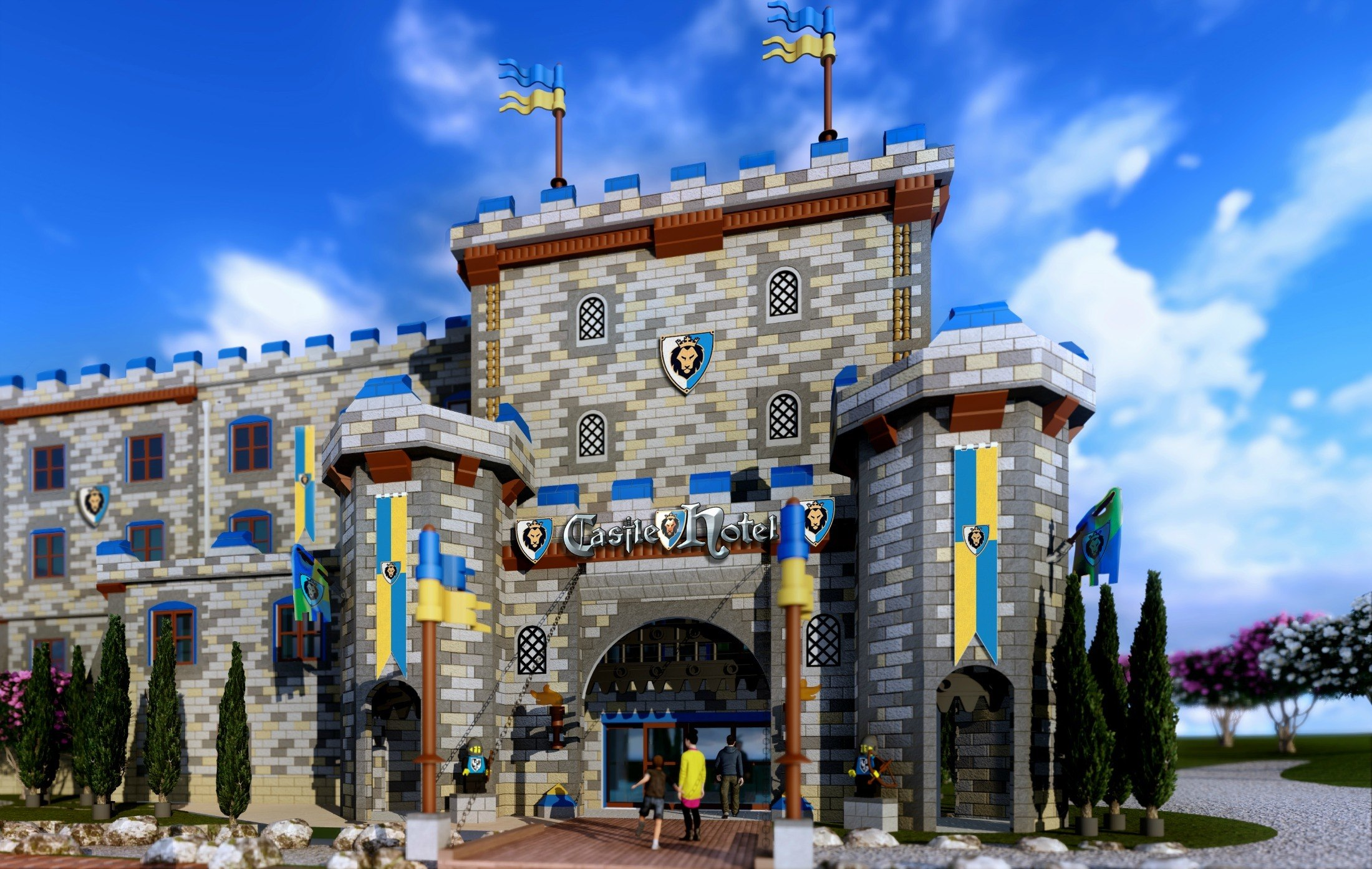 Hotels Near LEGOLAND include the brand new LEGOLAND Castle Hotel.