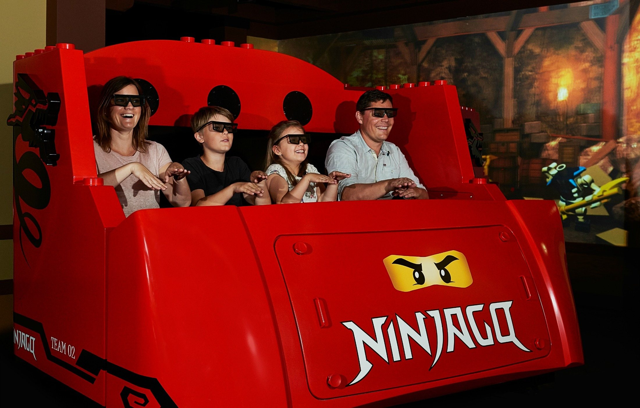 The New LEGO NINJAGO The Ride is now open at LEGOLAND California Resort.
