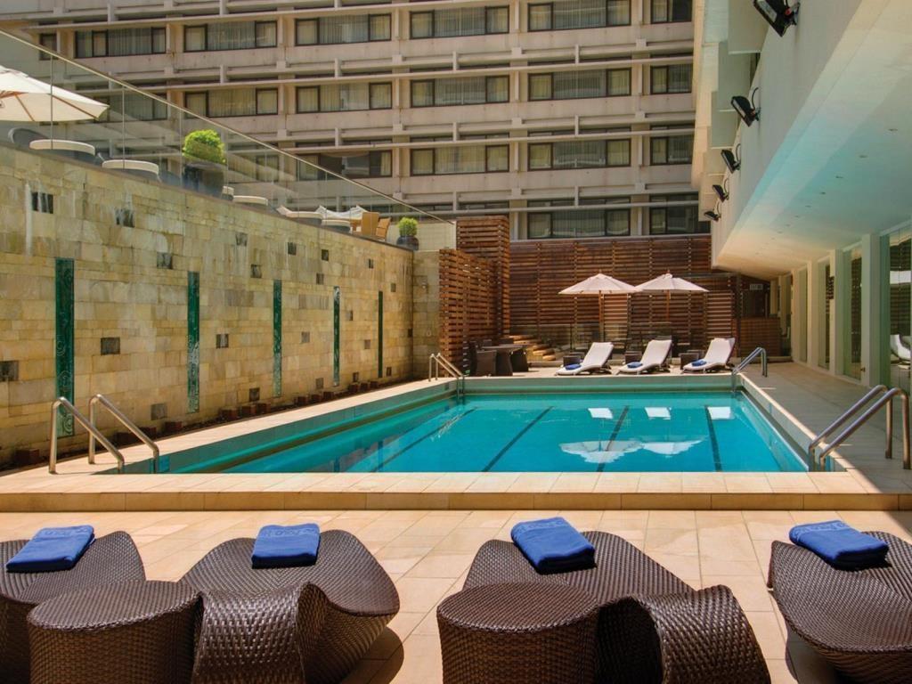 The pool at Marco Polo Hong Kong hotel.
