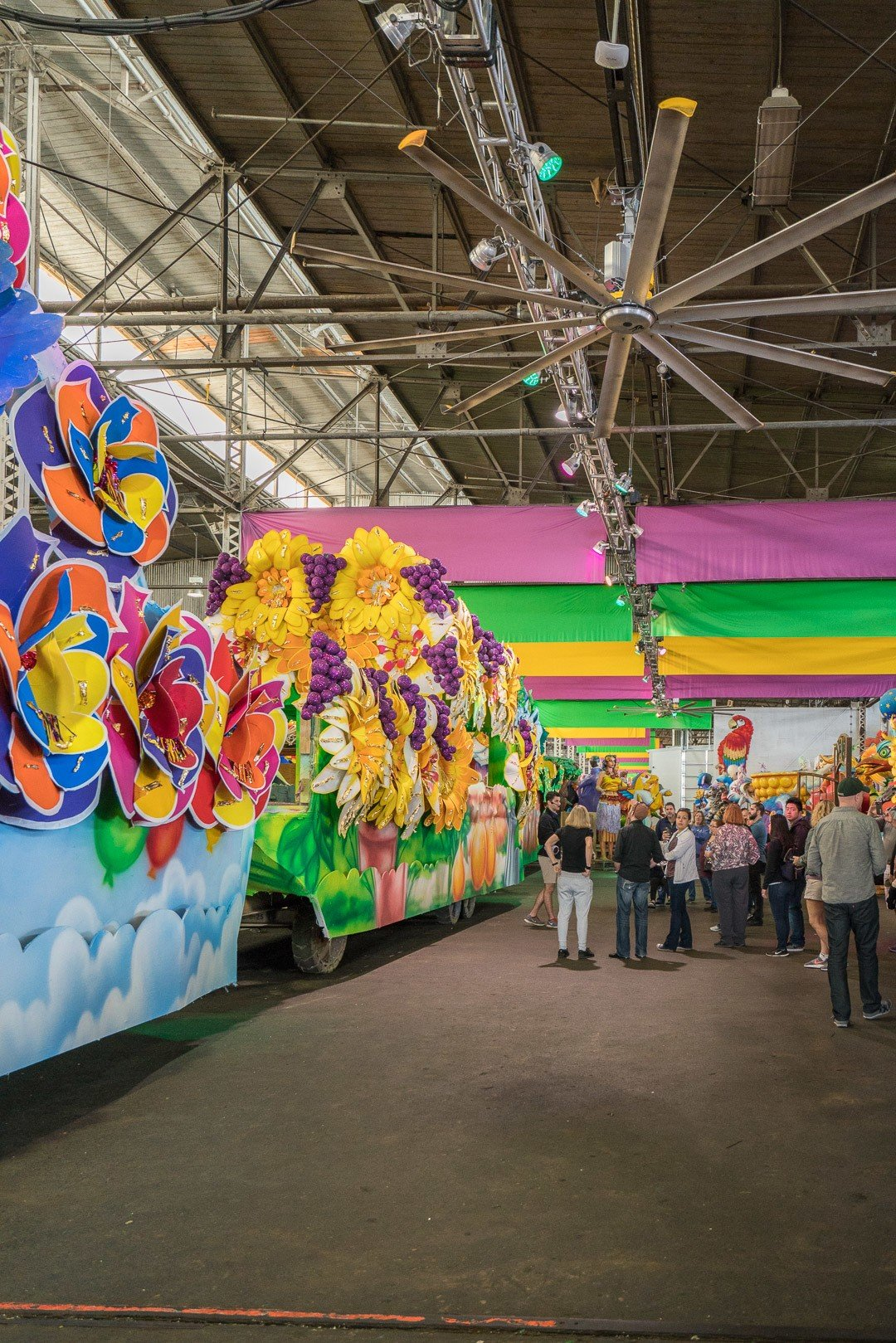 A tour of the Mardi Gras float making facility at Mardi Gras World, one of the popular things to do in New Orleans.