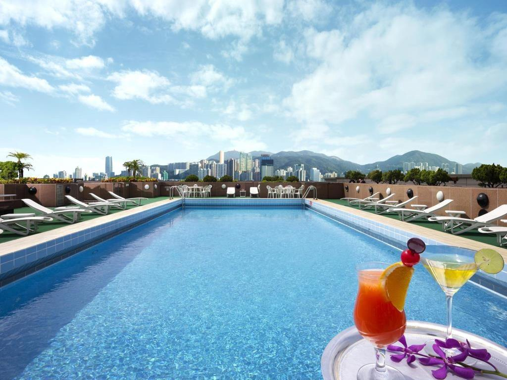 The pool at New World Millennium Hotel Hong Kong.