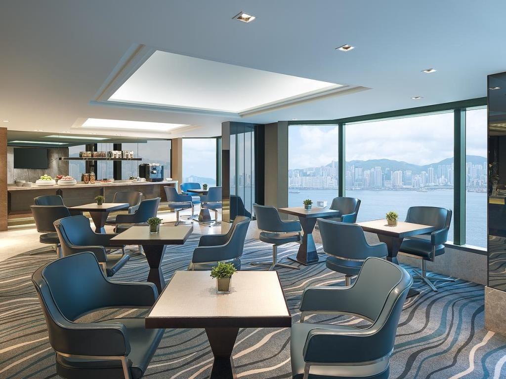 Club Lounge at New World Millennium Hong Kong hotel.