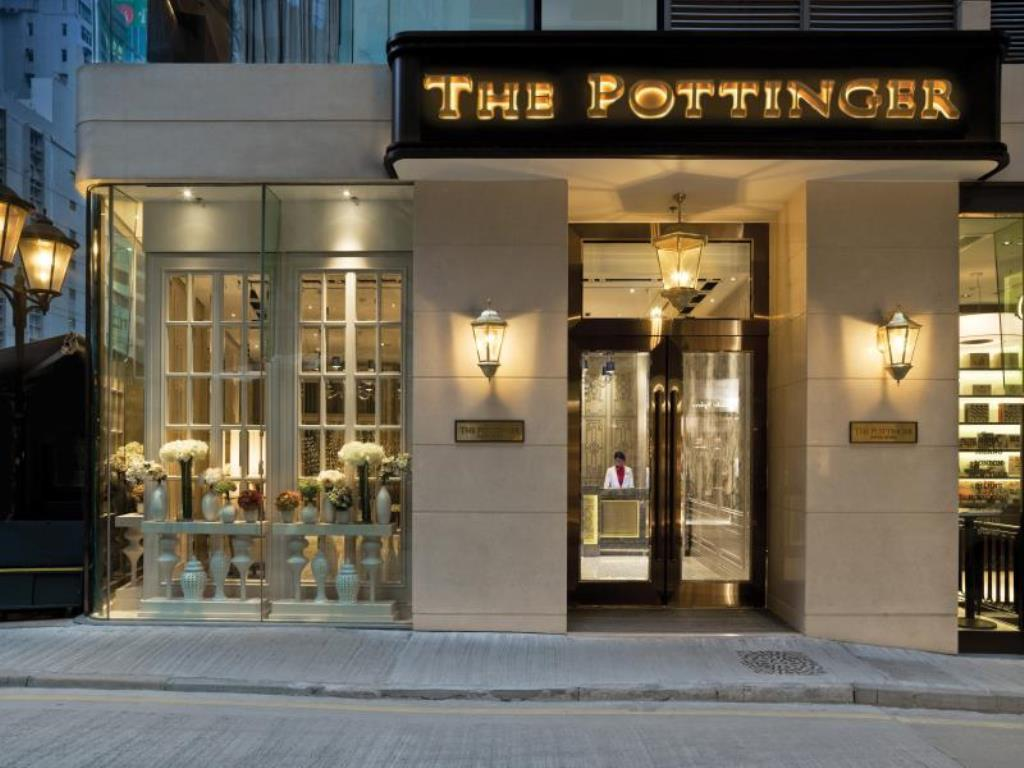 The exterior of The Pottinger, a boutique Hong Kong hotel.