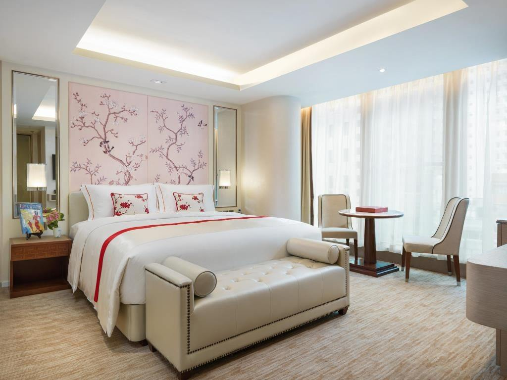 A room at The Pottinger, a Hong Kong boutique hotel in Central.