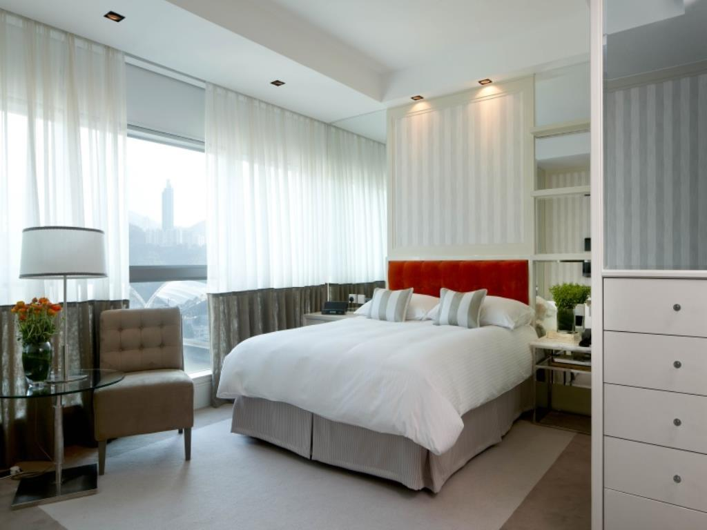 A Premier Room at Lanson Place, a Hong Kong boutique hotel.