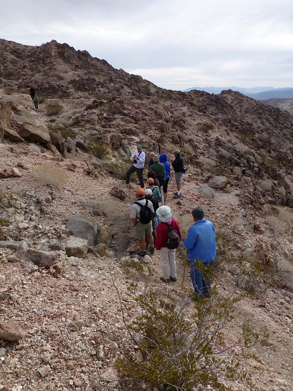 Guests enjoy a free geology lesson at Anza-Borrego Desert State Park