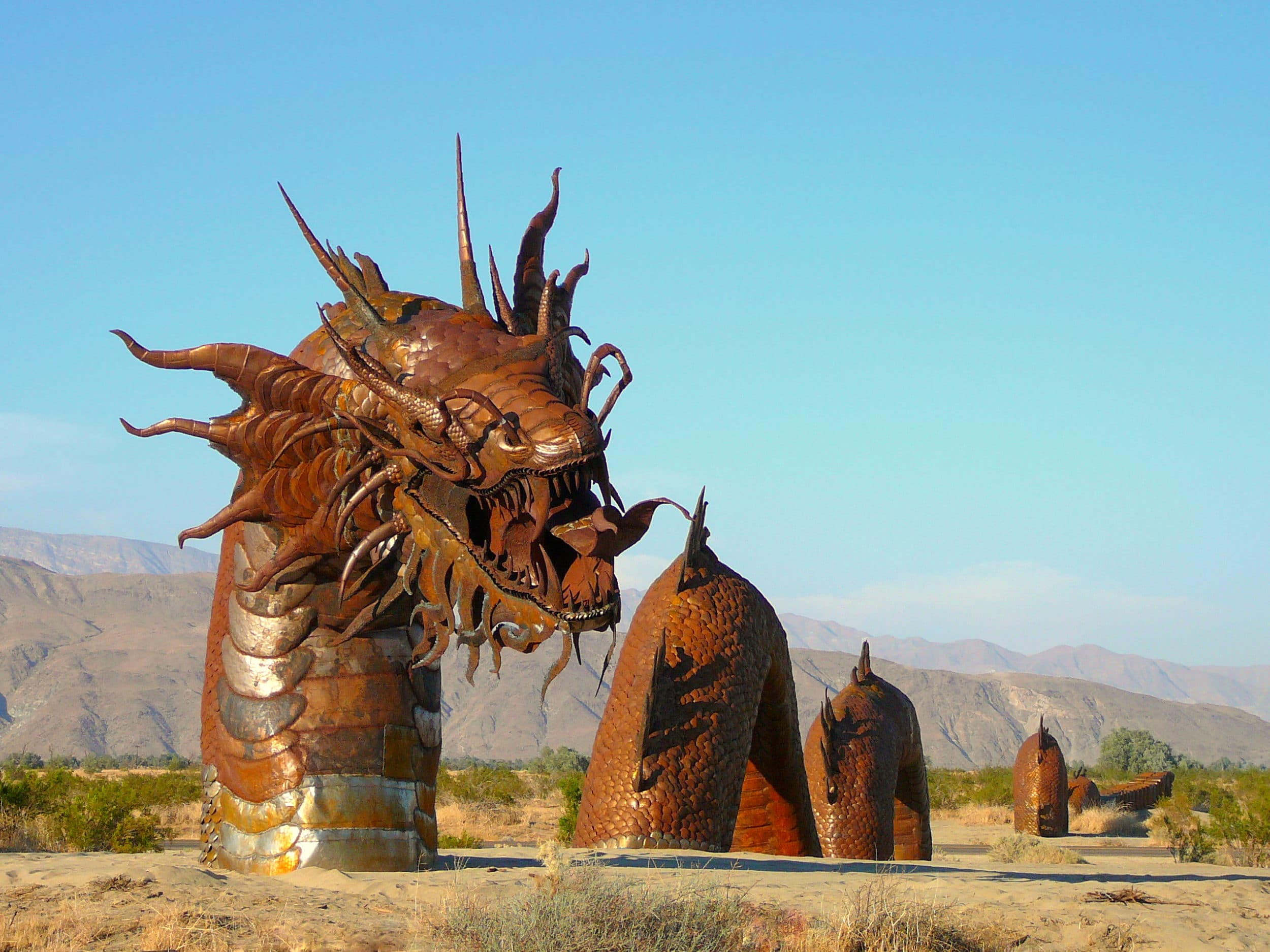 Check out the various metal sculptures in the Borrego Valley, near Anza-Borrego Desert State Park