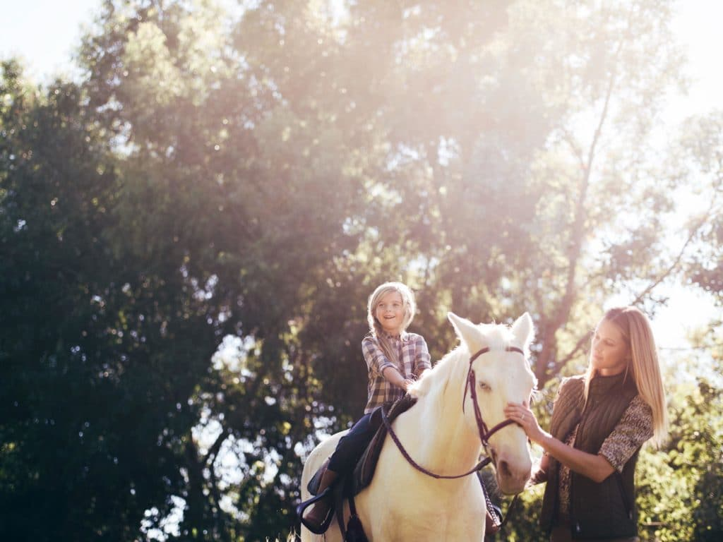 Fairmont Grand Del Mar has an onsite equestrian center that kids and adults love.