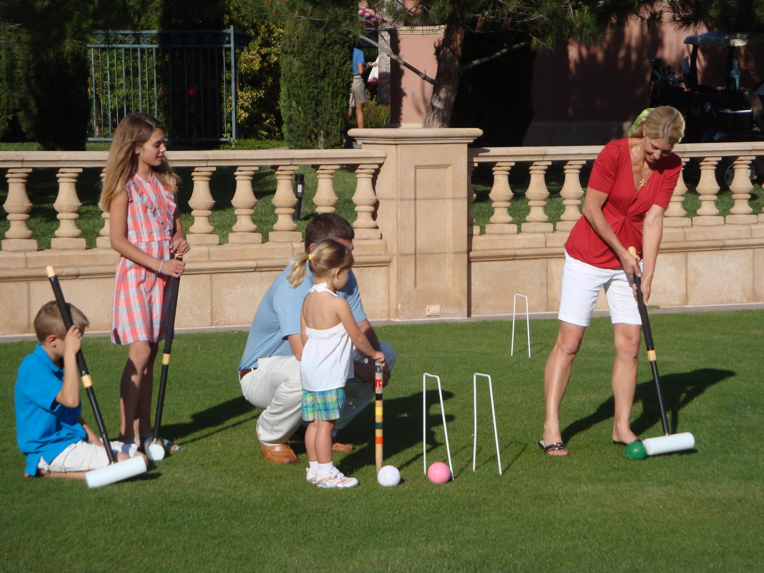 Family activities at Fairmont Grand Del Mar, a luxury hotel in San Diego.