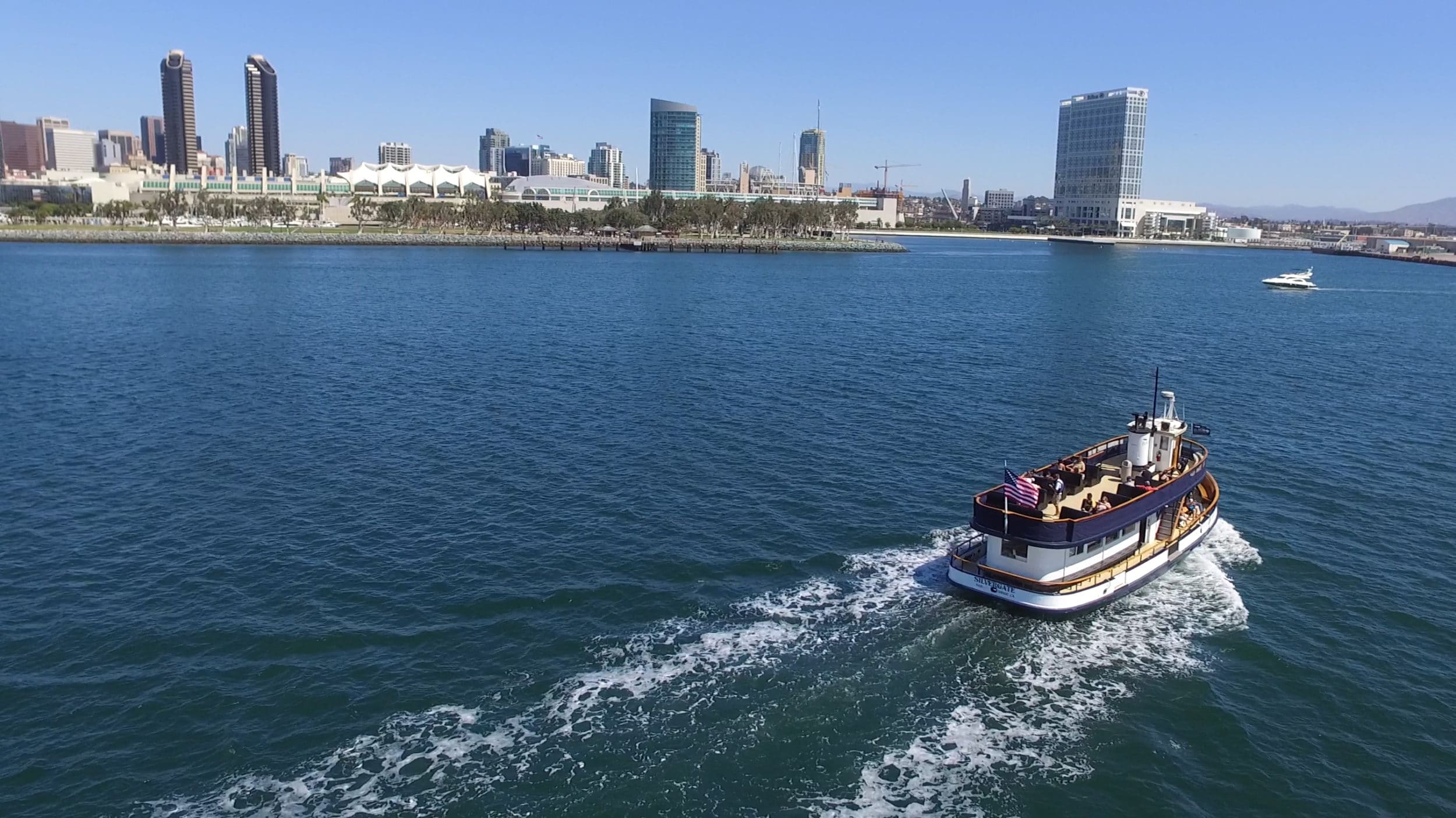 The Coronado Ferry is a way to sightsee on the San Diego Bay.