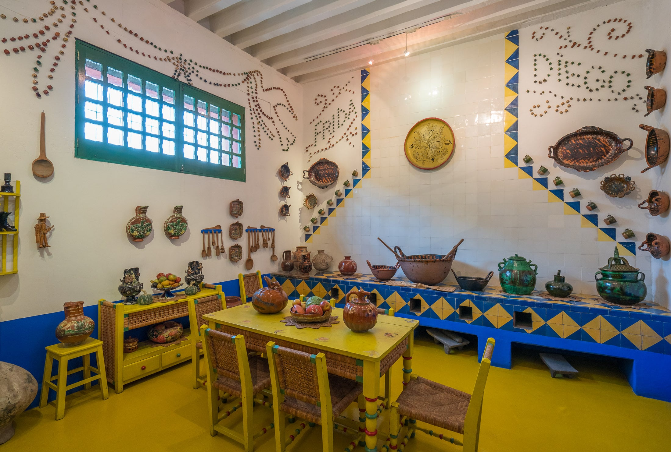 Frida Kahlo's kitchen in her Mexico City home (now museum).