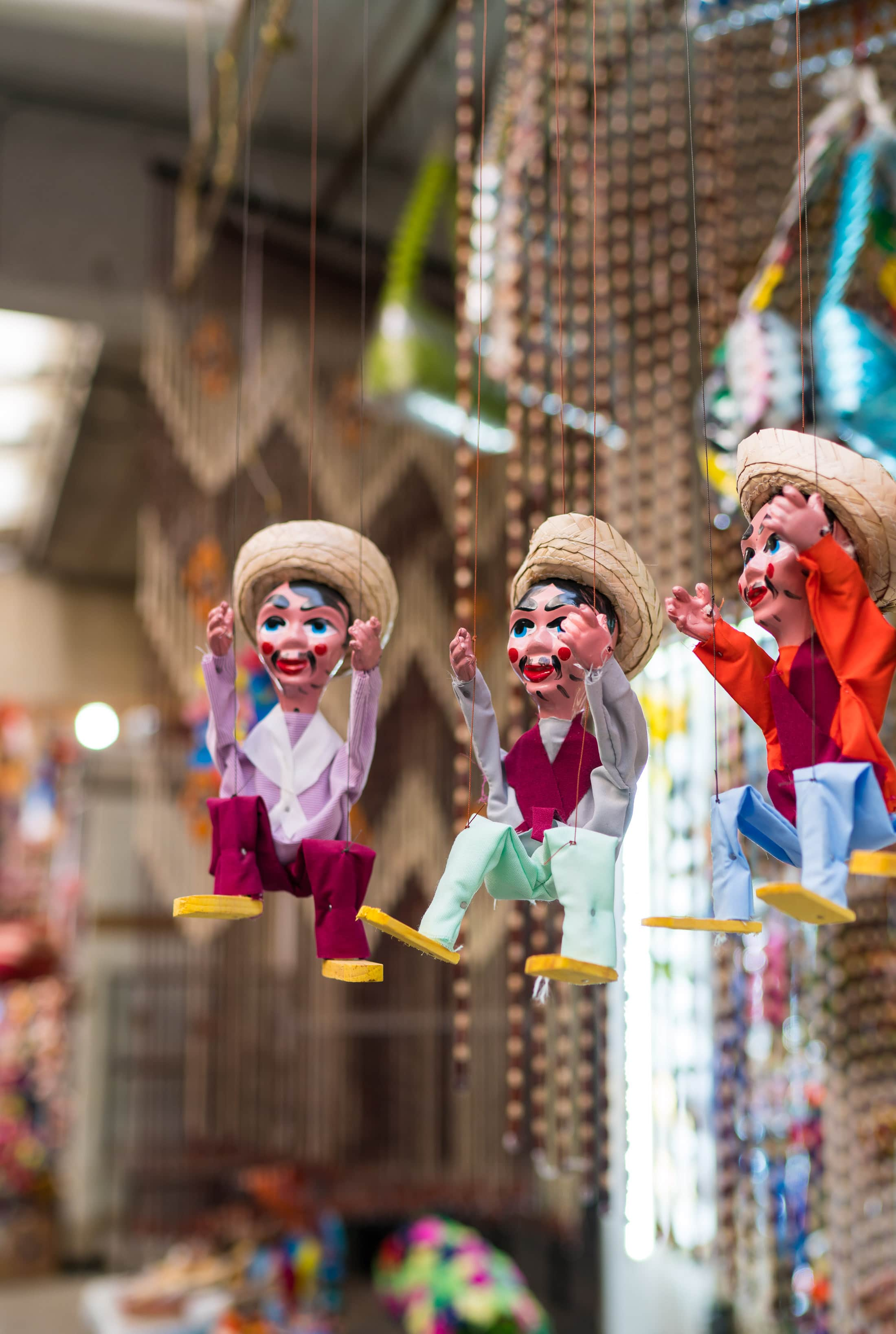Marionettes at La Ciudadela Market in Mexico City