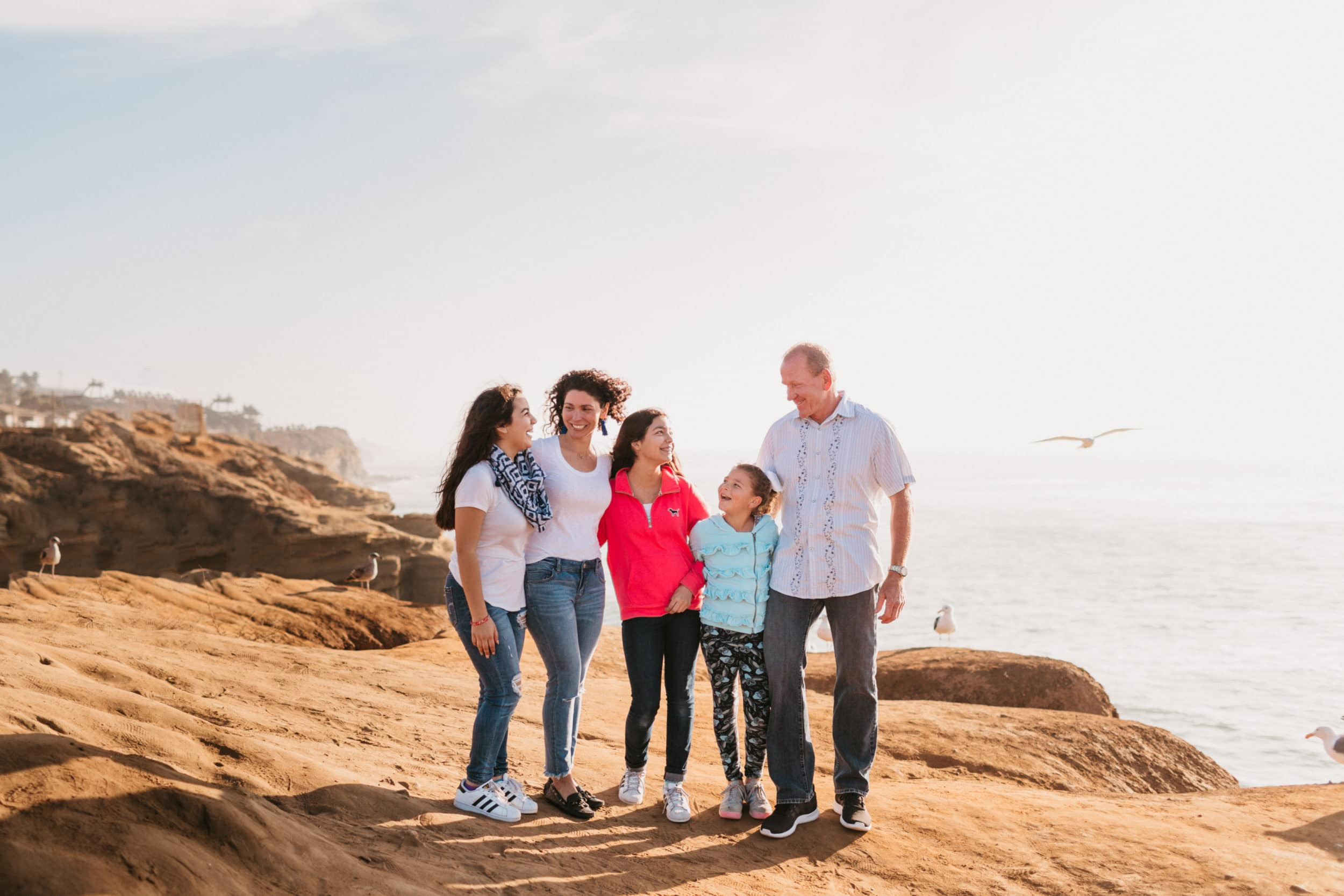 A Flytographer session in Ocean Beach at Sunset Cliffs Park