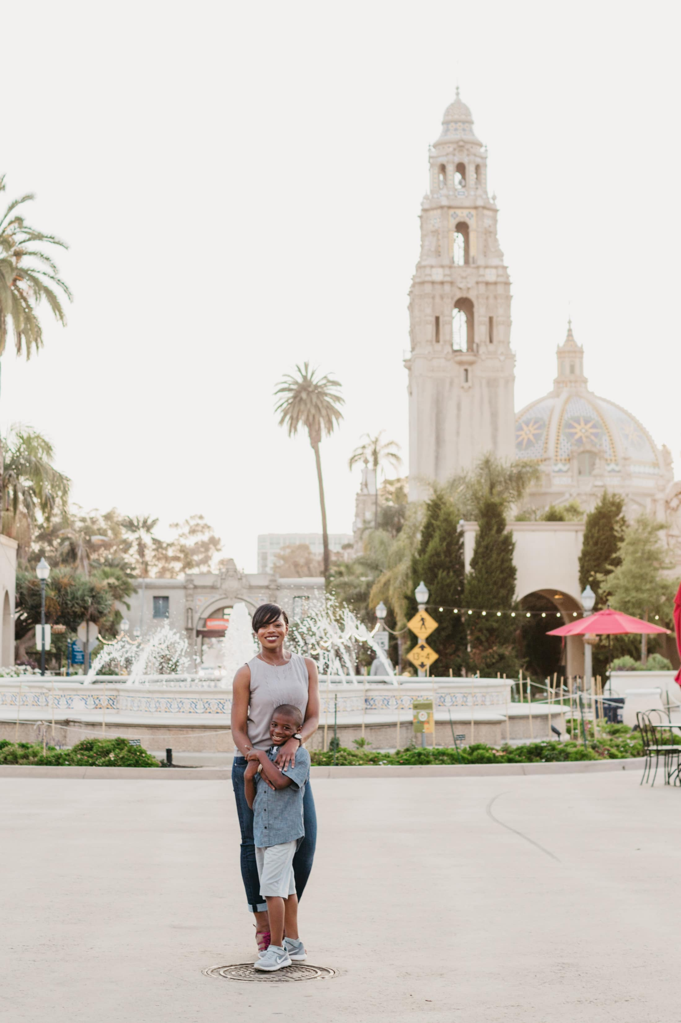 Balboa Park in San Diego is the perfect location for a photo shoot.