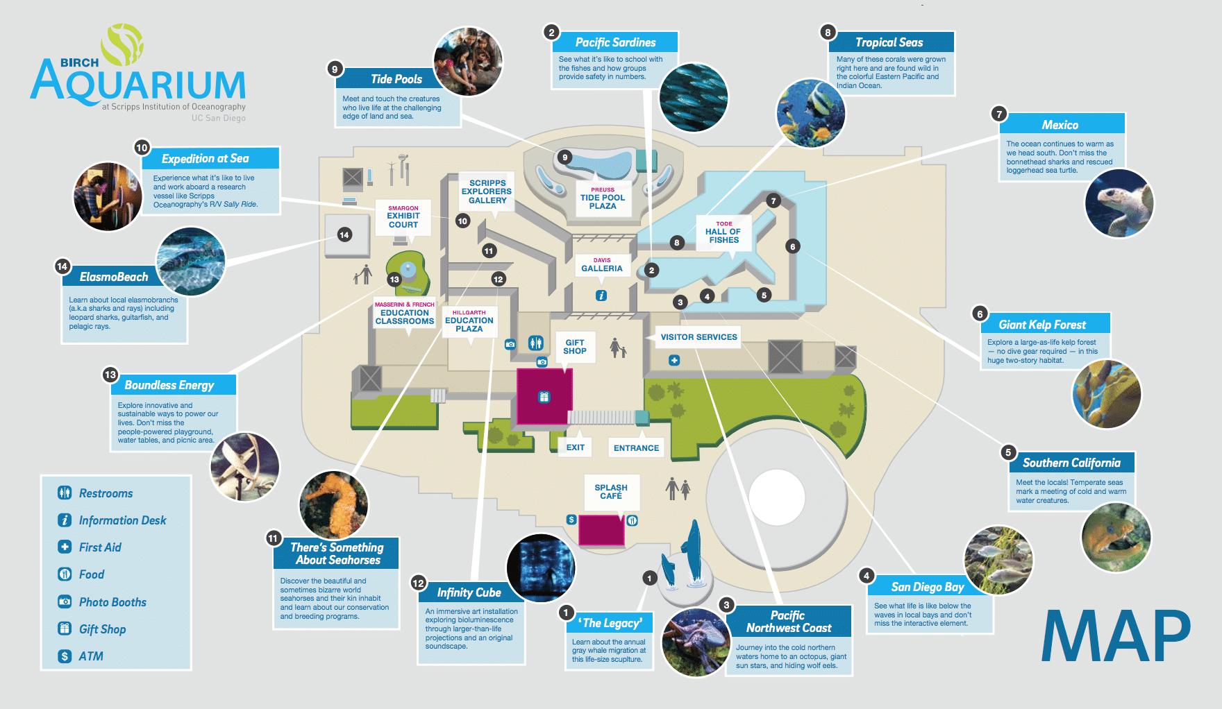 Birch Aquarium La Jolla Map