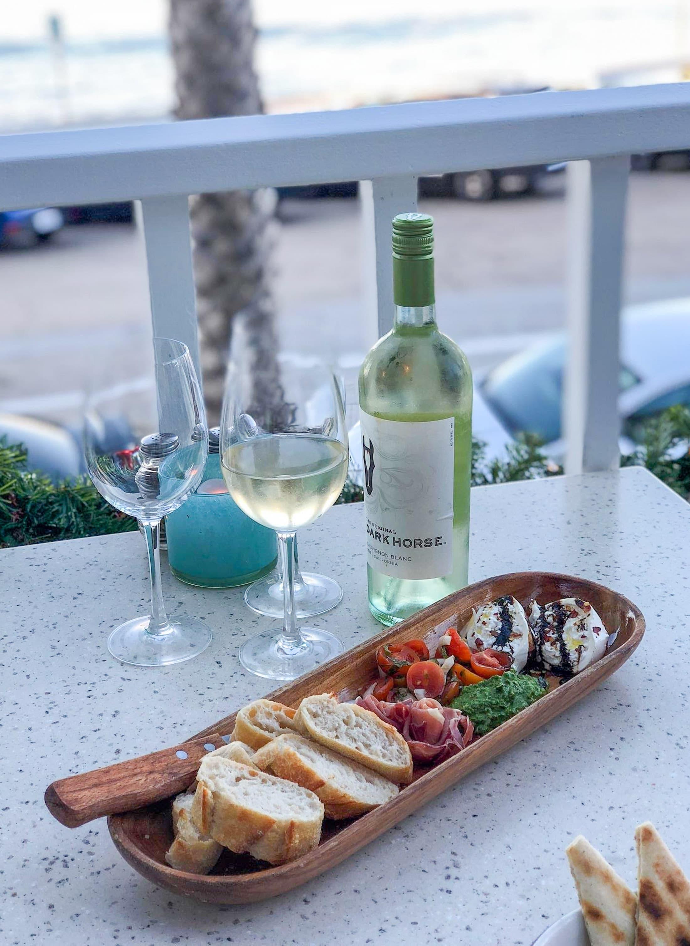 """Brockton Villa's """"Social Hour"""" is wine and a burrata platter ..."""