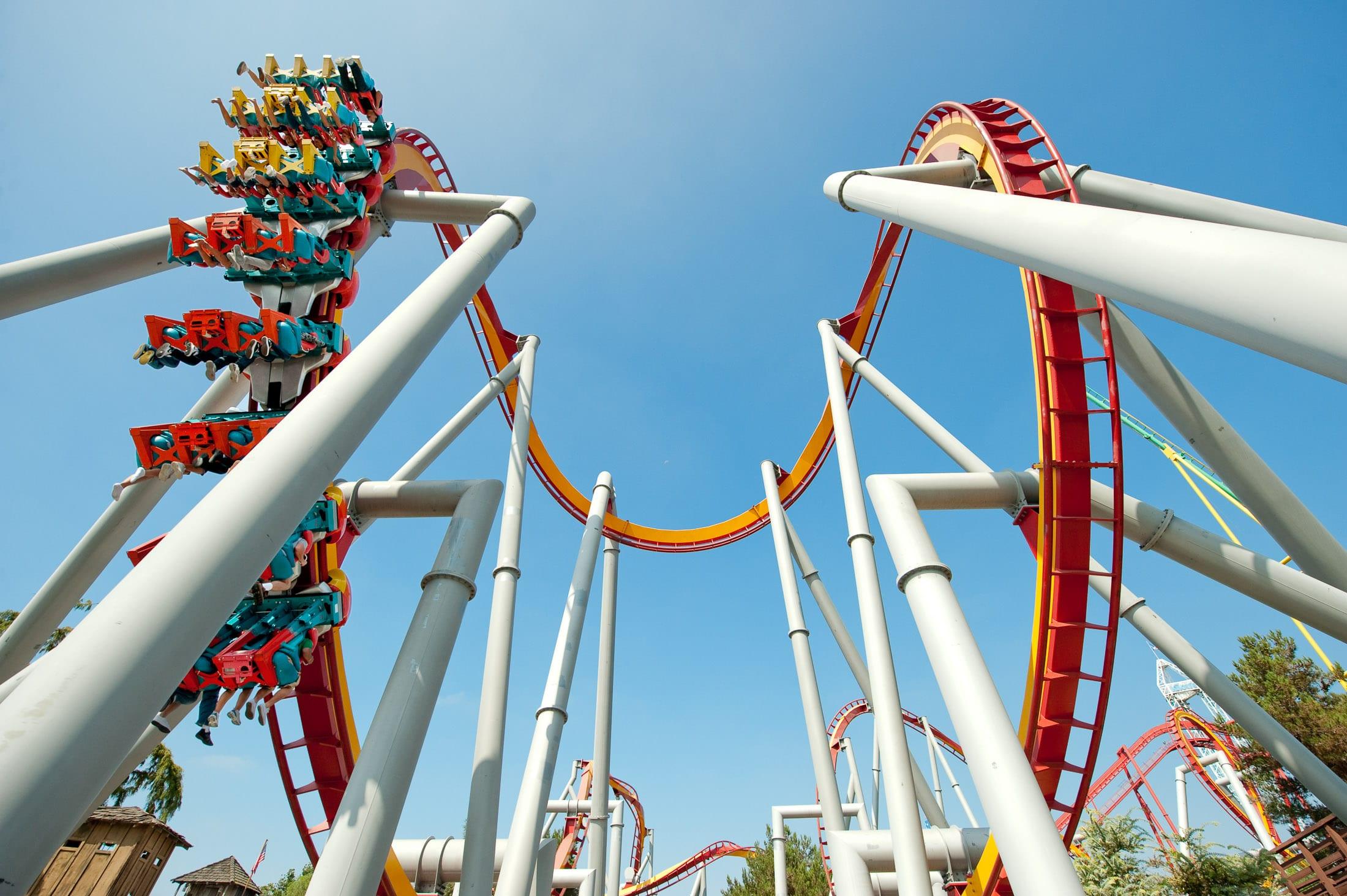 Roller coaster at Knott's Berry Farm.