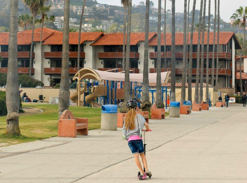 Kellogg Park playground for kids at La Jolla Shores Beach.