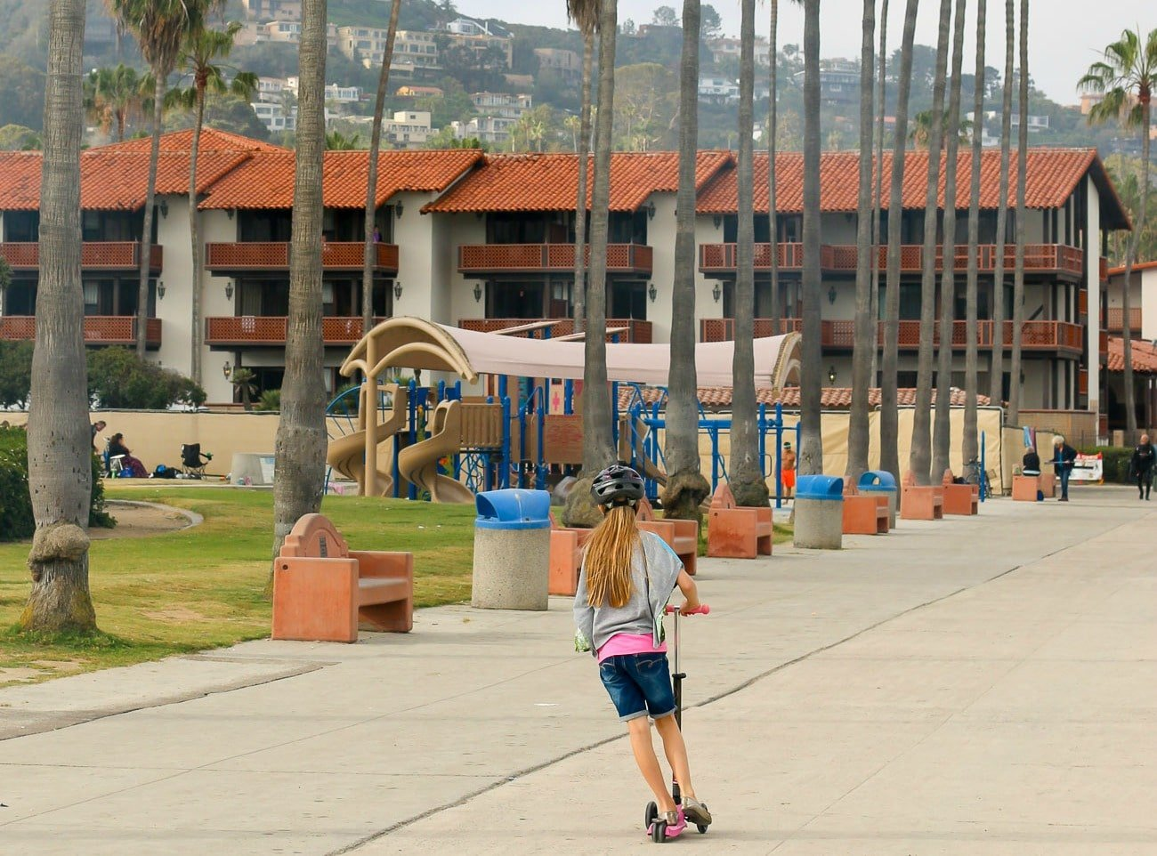 Kellogg Park playground for kids at La Jolla Shores Beach.