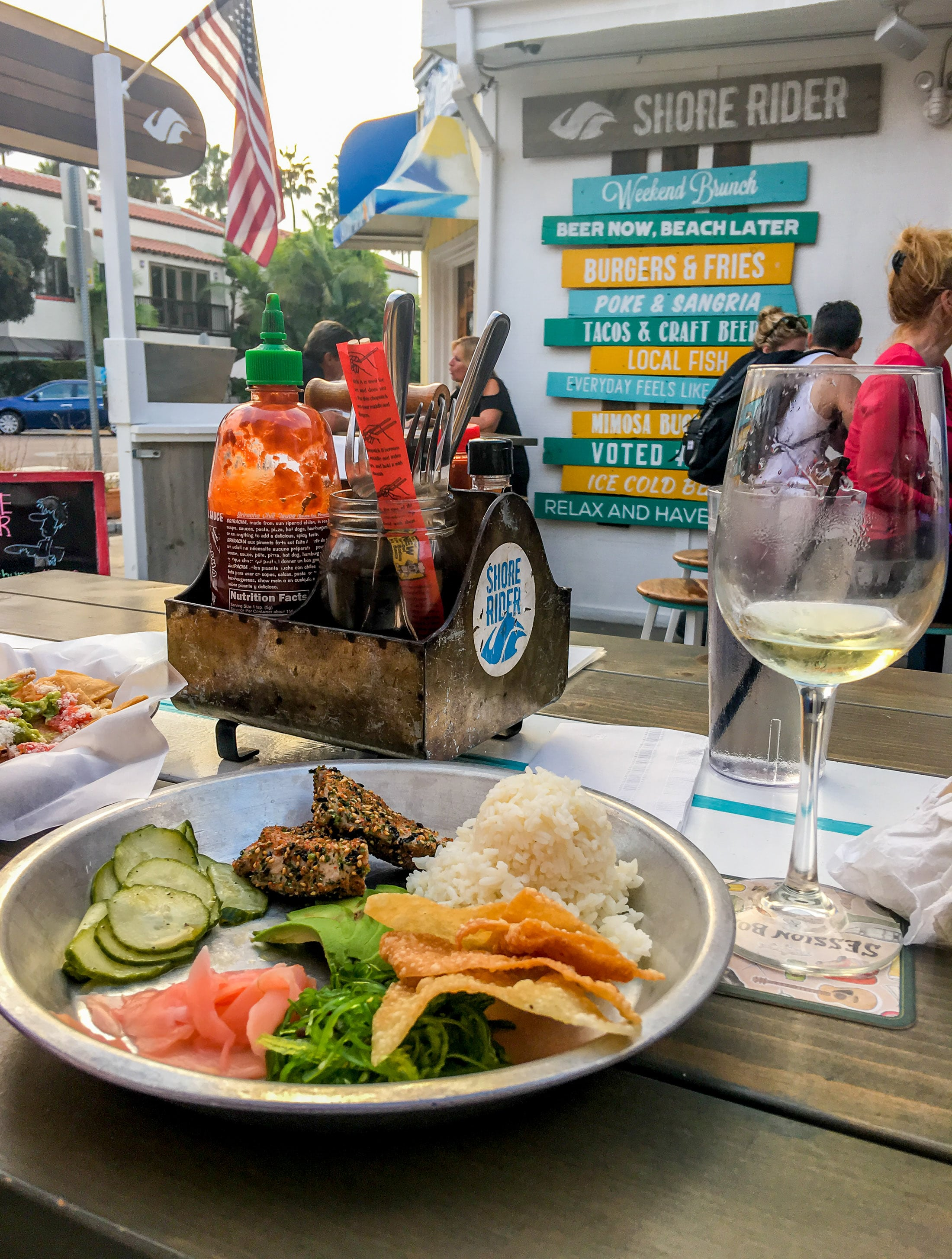 Shore Rider restaurant in La Jolla Shores