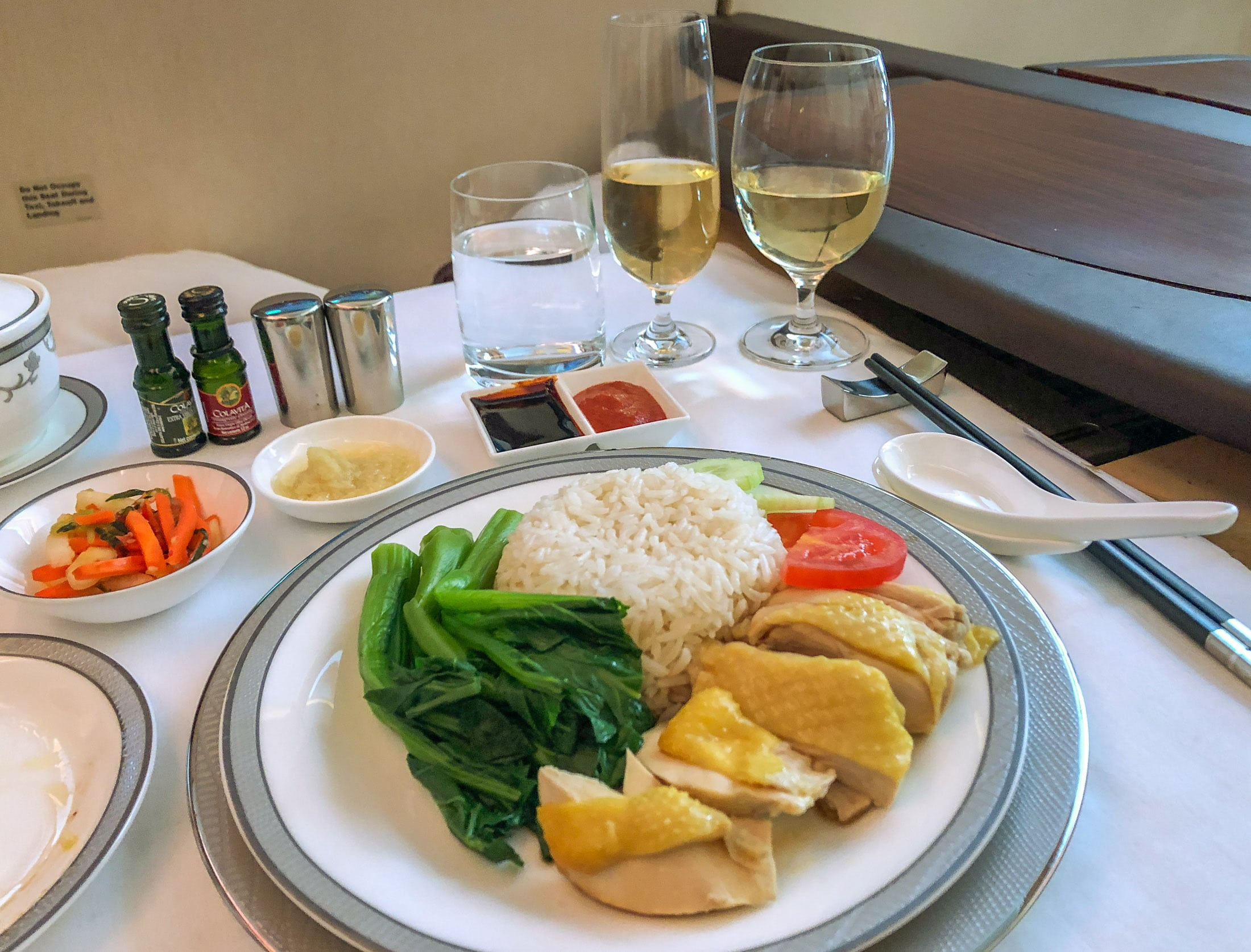 Chicken Rice in Singapore Airlines Suites Class