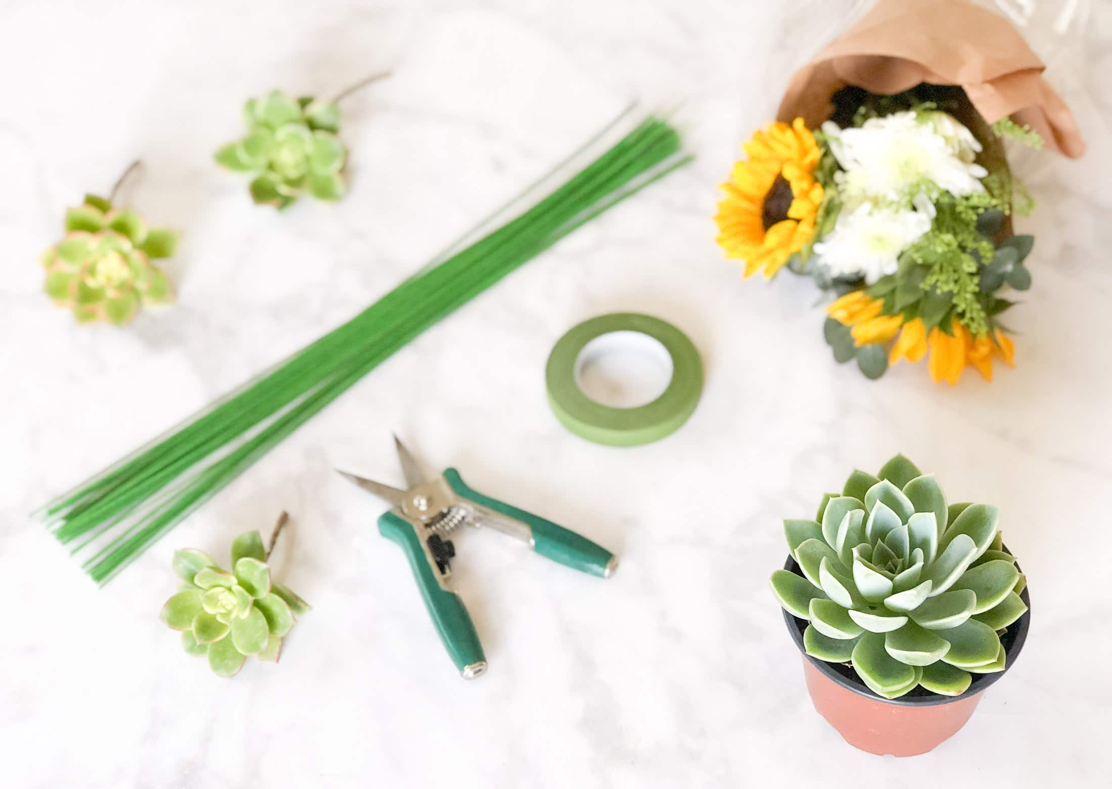 How To Make An Easy Succulent Bouquet La Jolla Mom