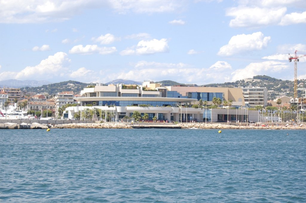 Palais des Festivals is where the Cannes Film Festival is held.
