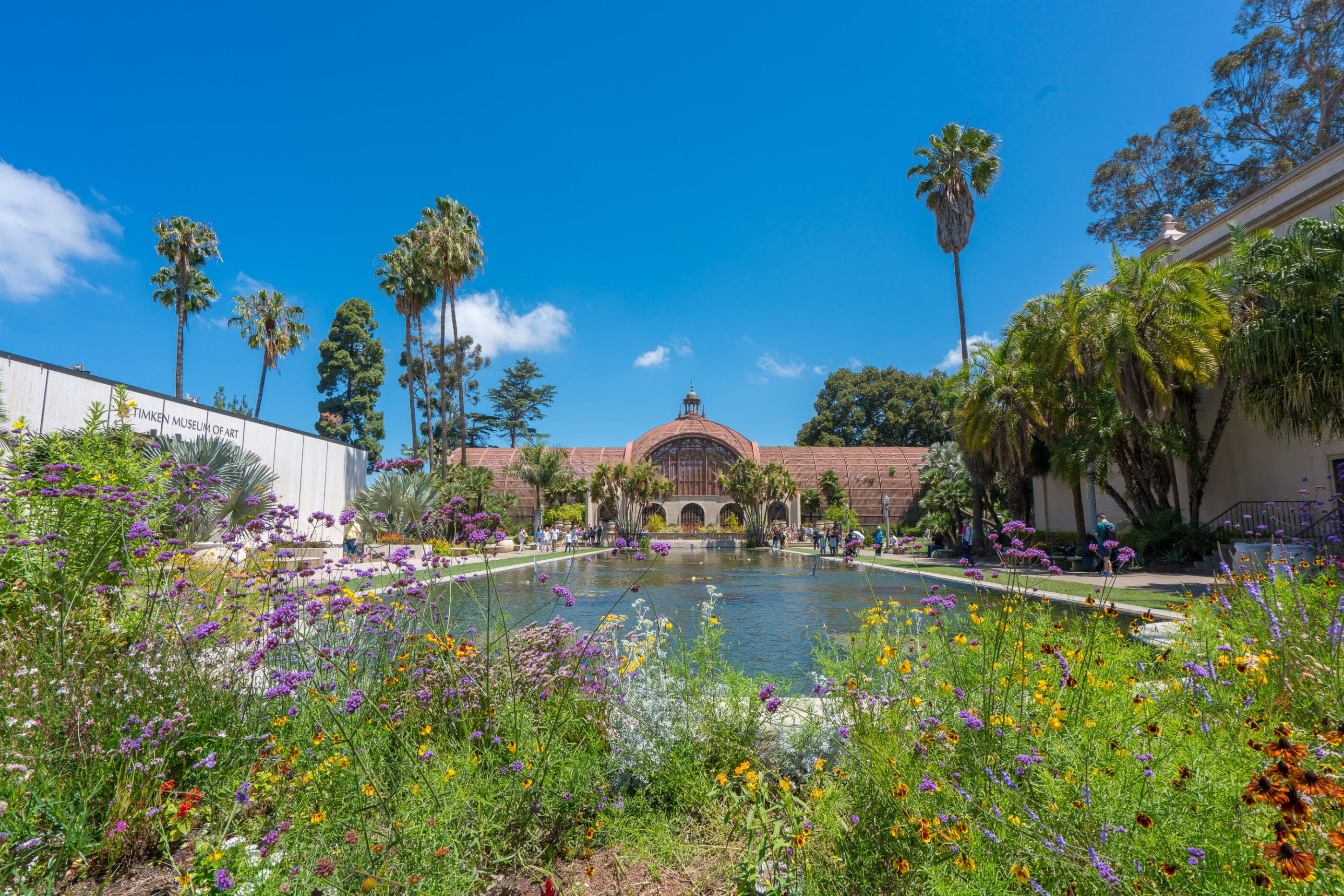 Free things to do in San Diego include Balboa Park's Botanical Building.