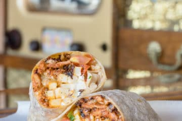 One of the best things to eat in San Diego is a California burrito.