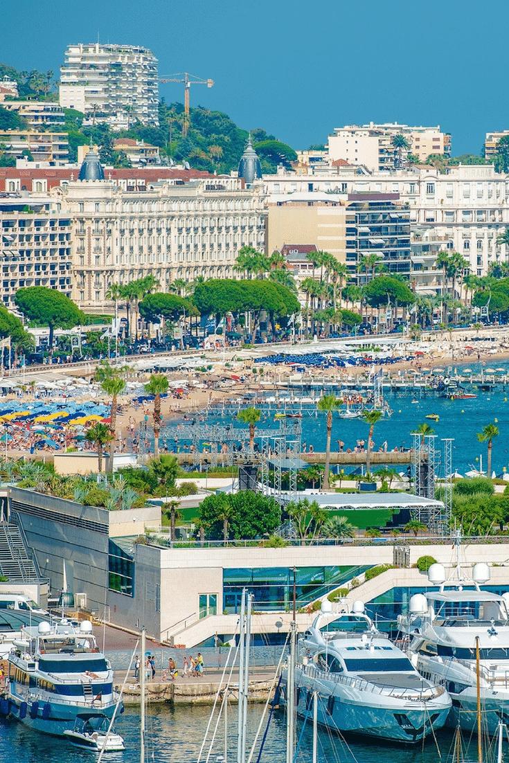 A Glamorous Cannes beach