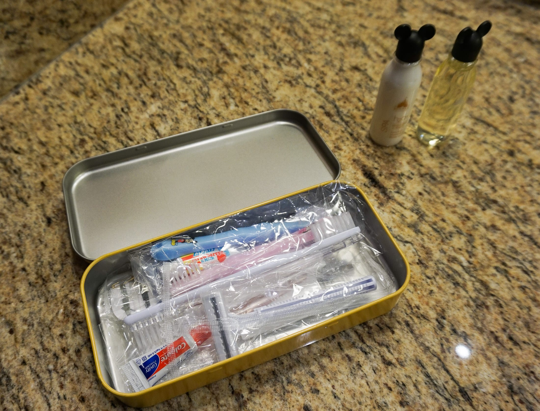 In-room amenities at Disney Explorers Lodge at Hong Kong Disneyland