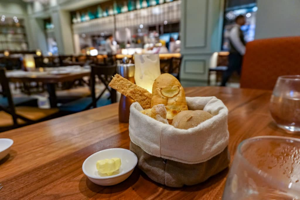 Bread at World of Color restaurant, Disney Explorers Lodge