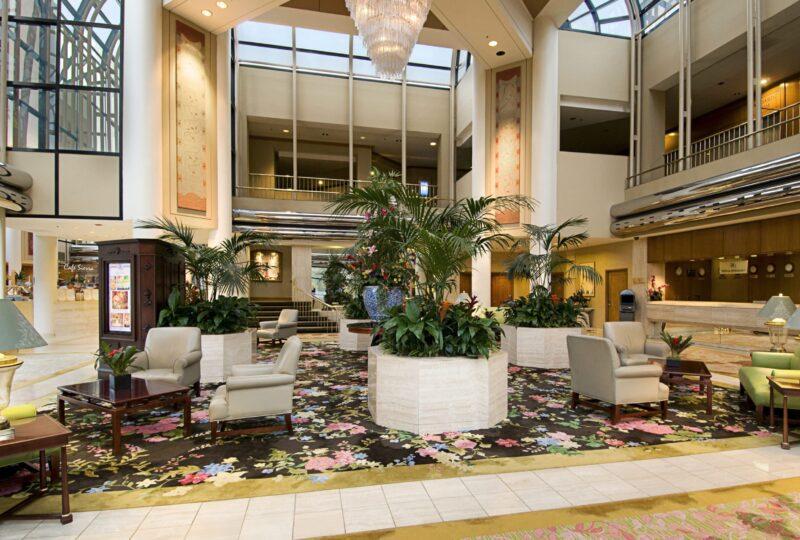 hilton universal city lobby