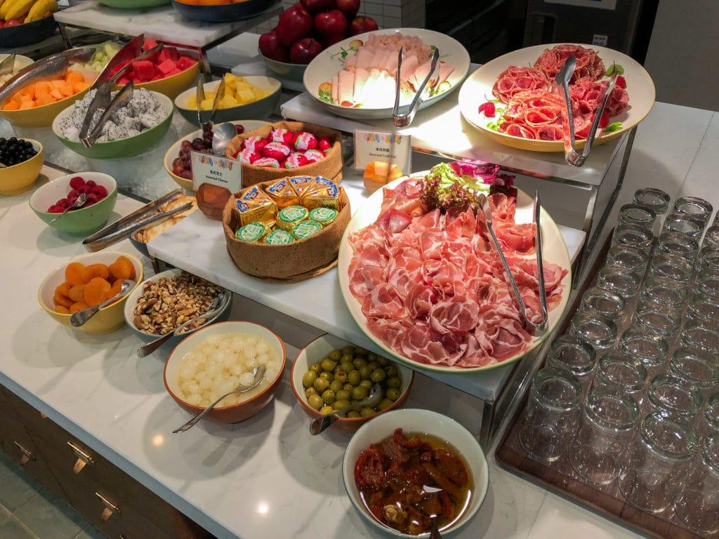 Breakfast meat at World of Color inside Disney Explorers Lodge Hong Kong